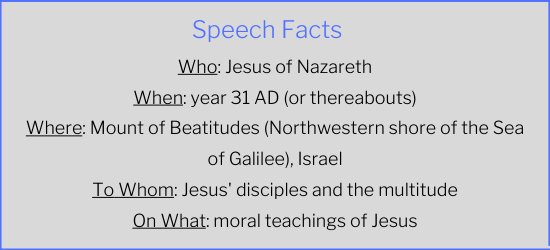 Sermon on the Mount Speech Facts